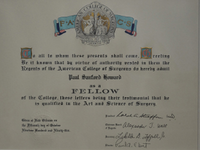 Fellow, American College of Surgeons